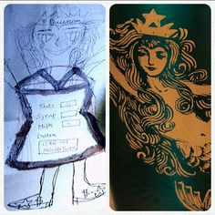 #Queenism ☆$dress                Customization of coffee and clothes. Modernization and globalization.                          (Mucho credit to sbux designers) #Starbucks