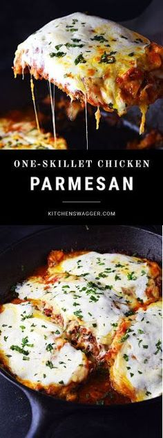 One-Skillet Chicken Parmesan  +easy                                                    +chicken breast