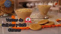 Vasitos de galleta y cafe / receta casera /