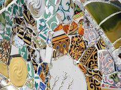 Gaudi's mosaic - Park  Güell, Barcelona.