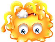 Микробы, бактерии — Yandex.Disk Banner Template, Portfolio Design, Designs To Draw, Creatures, Cartoon, Drawings, Illustration, Orange, Yellow