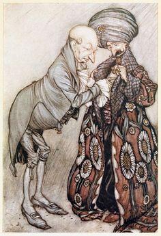 Arthur Rackham, from Peter Pan in Kensington gardens, by James Matthew Barrie, New York, 1910.