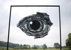 Wire Eye by Sophie Ryder.  www.sophieryder.net