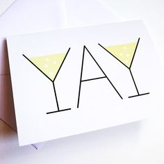 YAY Celebration A6 Greetings Card by helloDODOshop on Etsy