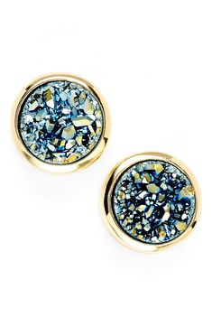 Love the sugary shimmer of these stud earrings thanks to the drusy stones.