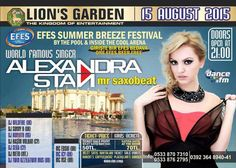 Alexandra Stan Concert advertising design for Lion's Garden - Cyprus. They use it on flyer, brochures, tickets, facebook and bilboard advertising.