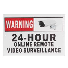 4.30$  Buy here - http://ali9rj.shopchina.info/go.php?t=32792808737 - 24 Hour Online Remote Video Surveillance Security CCTV Camera Metal Sign Decal  #magazine