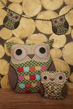 Jimmy Green Owl Cushion and Door Stop Owl Bunting, Owl Doorstop, Owl Cushion, Owl Applique, Jessica Rose, Crafts For Kids, Diy Crafts, Owl Always Love You, How To Make Toys
