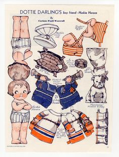 77.221: Dottie Darling's Boy Friend-Huskie Horace | paper doll | Paper Dolls | Dolls | National Museum of Play Online Collections | The Strong