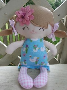 My Friend Audraa handmade cloth doll by DandelionWishesMimi, $15.00