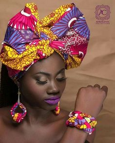 Headwrap Ribbon 🎀 & Accessories by ⏩shop via their estore link via African Inspired Fashion, African Print Fashion, Africa Fashion, Denim Earrings, Fabric Earrings, Fabric Jewelry, African Accessories, African Jewelry, Ethnic Jewelry