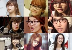 Rarely see them in glasses