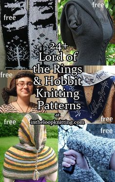 Knitting patterns inspired by the Lord of the Rings and The Hobbit
