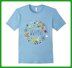 Mens SCIENCE MATTERS FUNNY T SHIRT Medium Baby Blue - Math science and geek shirts (*Amazon Partner-Link)