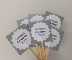 Graduation Cupcake Toppers Customized for by welldressedcupcakes, $6.00
