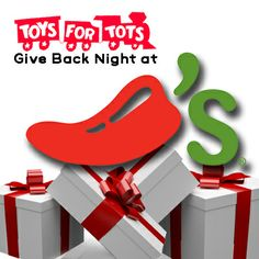 We're excited to donate 10% of net sales when you mention Toys for Tots on Monday, Dec. 9 at restaurants across the country! Find out how you can participate and read about some ChiliHeads' favorite toys on our blog!