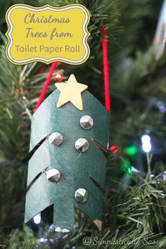DIY CRAFT ** Toilet paper rolls Toilet paper roll crafts Christmas tree