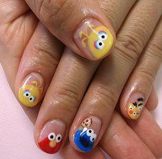 Kawaii Nail Art, Cute Nail Art, Cute Nails, Pretty Nails, Disney Inspired Nails, Disney Nails, Nail Manicure, Gel Nails, Acrylic Nails