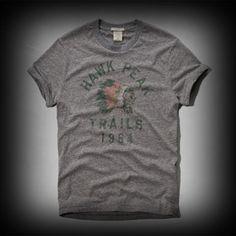 アバクロ メンズ Tシャツ  Abercrombie&Fitch Beaver Point Tee Tシャツ  ★ヴィンテージウォッシュがコーディネイトしやすくて個性的な古着っぽさな味がでてお洒落。 ★色あせたアート的なプリントがいい味が出ている。