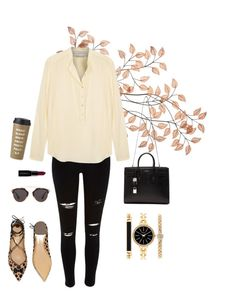 """""""Untitled #160"""" by zelenskaya-daria ❤ liked on Polyvore featuring River Island, STELLA McCARTNEY, Salvatore Ferragamo, Yves Saint Laurent, Christian Dior, Style & Co., Smashbox, Kate Spade, women's clothing and women"""