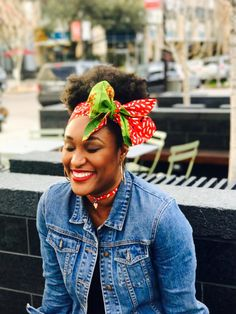 Afican fabric hairtie Head wrap Turban by GabeJadeAccessories