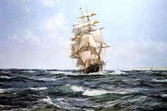 Tall Ship Oil Painting by Montague Dawson