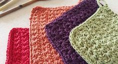 [Free Pattern] Colorful Crochet Star Stitch Potholders To Decorate Your Kitchen Any Season - Knit And Crochet Daily Crochet Star Stitch, Crochet Stars, Free Knitting, Free Crochet, Knit Crochet, Pattern Design, Free Pattern, Star Wars, Crochet Potholders