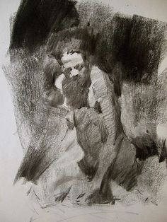 Charcoal drawing by Gamlet Khoudaverdian, via Flickr