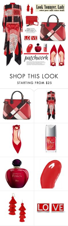 """""""All Patched Up: Patchwork!"""" by samra-bv ❤ liked on Polyvore featuring Burberry, Unützer, Christian Dior, BaubleBar, Givenchy, Aspinal of London, Balmain, love, patchwork and polyvorecontest"""