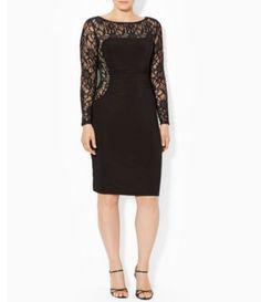2d186f143c8 Lace Illusion Sheath Dress at Dillards Lauren by Ralph Lauren Plus After 5  Dresses
