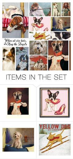 """The Dog in Art"" by leegal57 ❤ liked on Polyvore featuring art"