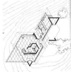 Berger House. Usonian Style. Frank Lloyd Wright. San Anselmo, California. 1950