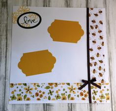 handmade scrapbook page, scrapboooking, watercolor, flowers, bees, ribbon, green & gold, DIY, demonstrator, paper crafting, easy, stamping, craft, paper, *Stampin' Up, by Amy Frillici, Gathering Inkspiration Stamp Studio, order products online at amysuzanne.stampinup.net