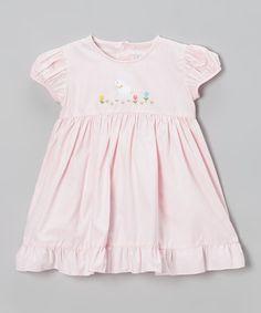 Look at this #zulilyfind! Pink Lamb Babydoll Dress - Infant & Toddler by Fantaisie Kids #zulilyfinds