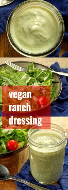 This rich and creamy vegan ranch dressing whips up in minutes, and is made by blending silken tofu with lemon, herbs and spices.
