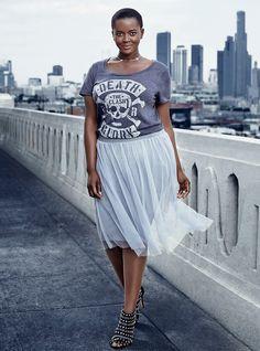 My Story My Torrid - Look 23 | Torrid. The Clash tshirt w/ femme and flirty skirt