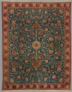 Designed by William Morris | Holland Park carpet | British, Merton Abbey or Hammersmith | The Met