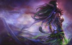 Night Elf Druid, just a very pretty picture.