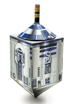 Make this Star Wars Hanukkah Droidel. My Droidel is part droid & part dreidel! It's the perfect way to do Hanukkah with a Star Wars twist! It's one of the many crafts from my STAR WARS CRAFT BOOK Hanukkah Crafts, Hanukkah Decorations, Hannukah, Xmas Crafts, Diy Crafts, Papercraft Star Wars, Papercraft Download, Star Wars Party, Book Crafts