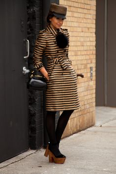 twist my rubber arm let's see that again...#MiroslavaDuma rockin head to toe Burberry and slaying it. #NYFW