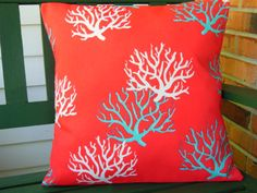 Aqua Red Coral Reef Duvet Cover Bedding Queen King By