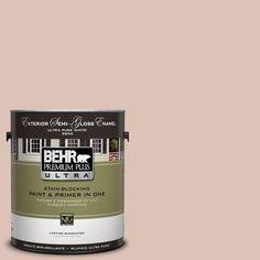 BEHR Premium Plus Ultra 1-Gal. #UL120-15 Coral Stone Semi-Gloss Enamel Exterior Paint