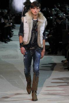 94ab8224b51 Dsquared² - Fall 2015 Menswear - Look 3 of 45 Fall 2015, Runway Fashion,
