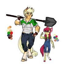 Aww yiss, just finished up another doodle for the Infected! This time it's of our favorite farm ponies, Applejack and Apple Bloom!AU: Applejack and Apple Bloom My Little Pony Comic, My Little Pony Drawing, Mlp Twilight, Twilight Sparkle, Furry Pics, Anime Pixel Art, Mlp Fan Art, Some Beautiful Pictures, Mlp Pony