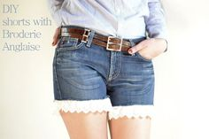 Jeans to Shorts - step by step Photo tutorial - Bildanleitung