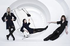 Chanel goes intergalactic with its zero-gravity campaign for Fall/Winter 2013 shot by Karl Lagerfeld and starring Soo Joo, Ashleigh Good and Chiharu Okunugi.