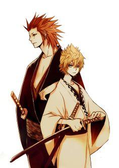 Kingdom hearts Axel and Roxas