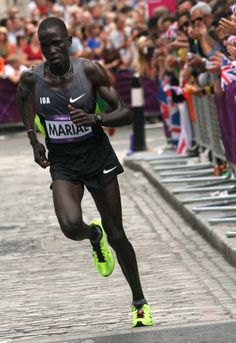 Guor Marial, the Olympic marathon runner who ran in the London 2012 Olympics without a country.