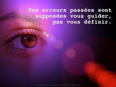 """""""Vos erreurs passées sont supposées vous guider pas vous définir.""""  http://ift.tt/1V9s8wk"""