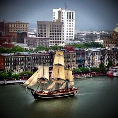 What a beautiful send off in the rain for the Tall Ships! - Savannah